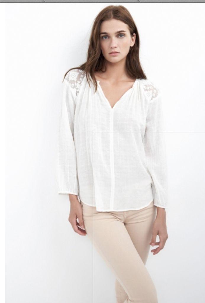Velvet By Graham & Spencer Woman Elen Embroidered Cotton Top Black Size S Velvet Clearance Store Cheap Online HpwHiJ3