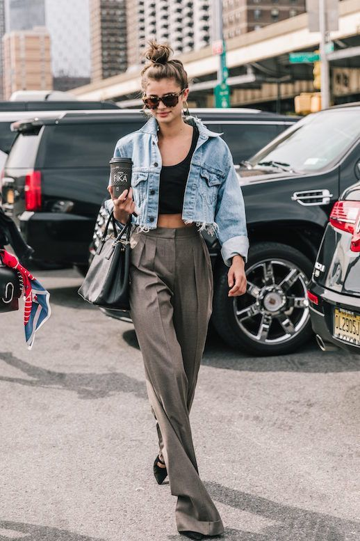 Photo via: Collage Vintage Although New York Fashion Week is long over, we're still reaping the benefits of the amazing street style that was documented there. Supermodel Taylor Hill was snapped weari