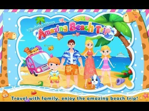 Family Time Amazing beach trip Videos games for Kids - Girls - Baby Andr...