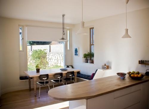 kitchen: cream walls + wood