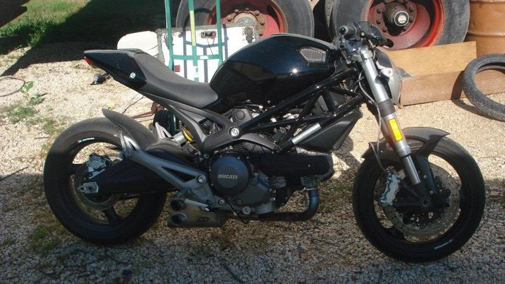 Ducati Monster 796 custom and headlight replacement by