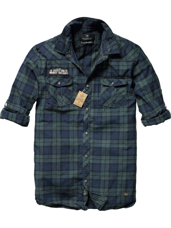 Scotch & Soda Worked-out shirt