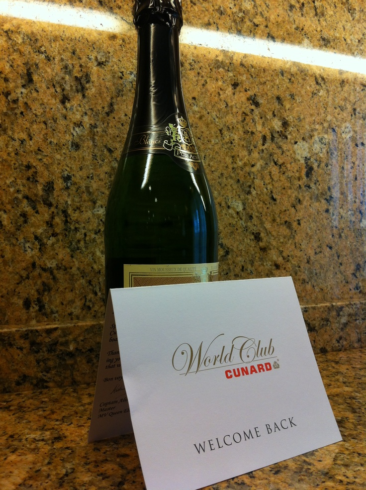 World Club Guests In The Britten Suite Received A Bottle Of Bubbles To  Welcome Them Back · Queen ElizabethBlasen