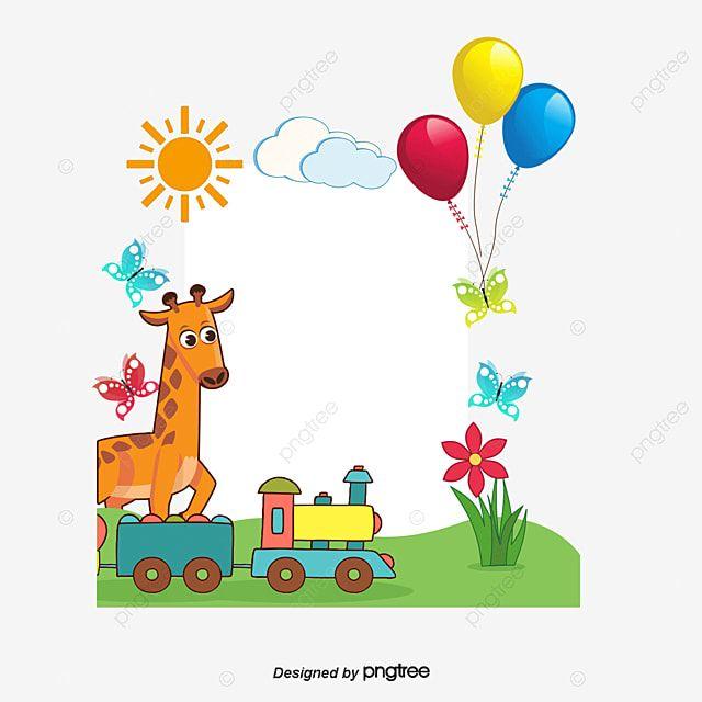 طفل كرتون نمط الإطار زرافة بالون ضوء الشمس بالون قالب الإطار بالونات ضوء الشمس Desenho De Crianca Padrao De Desenhos Padroes De Design