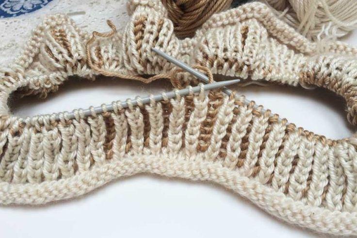 Návod na pružný pletený vzor / Pattern for handmade knitting