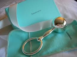 Sterling silver baby rattle from Tiffany & Co.