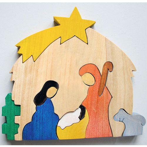 creche puzzle en bois