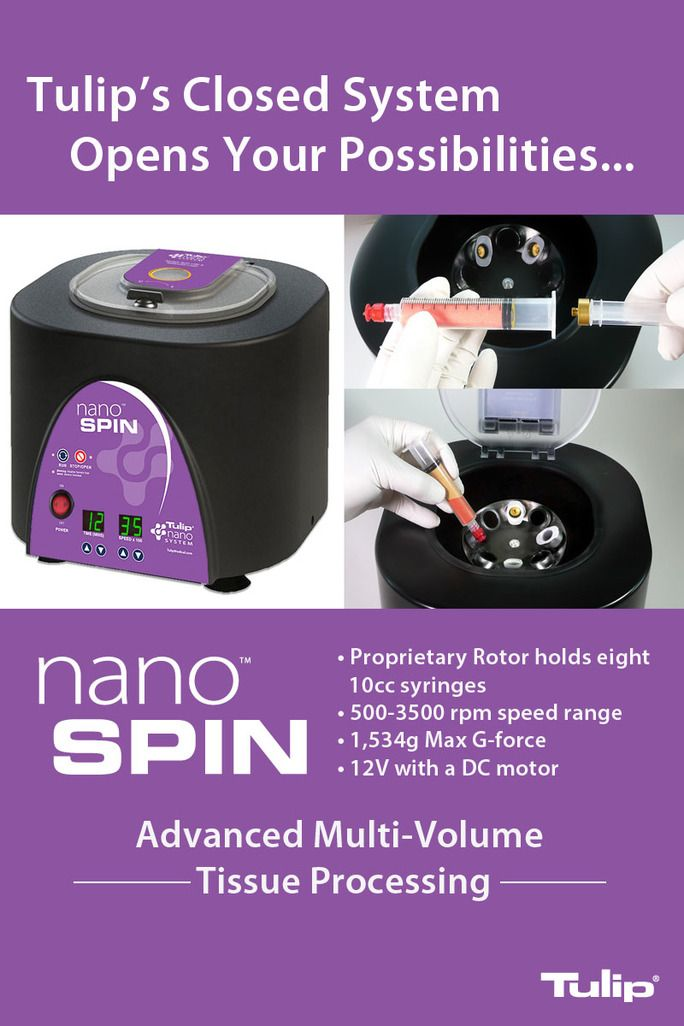 The Tulip NanoSpin™, an advanced small-volume tissue processing system with a proprietary rotor that accommodates up to eight 10cc syringes. Complete your Tulip closed tissue processing system with Syringe caps and the Tulip Crowns™. Please visit http://www.tulipmedical.com/tulip-sets.html for more information. #fattransfer #liposuction #medicaldevice #fatprocessing #plasticsurgery #plasticsurgeon #cosmeticsurgery #cosmeticprocedure #fatgrafting #fatharvesting