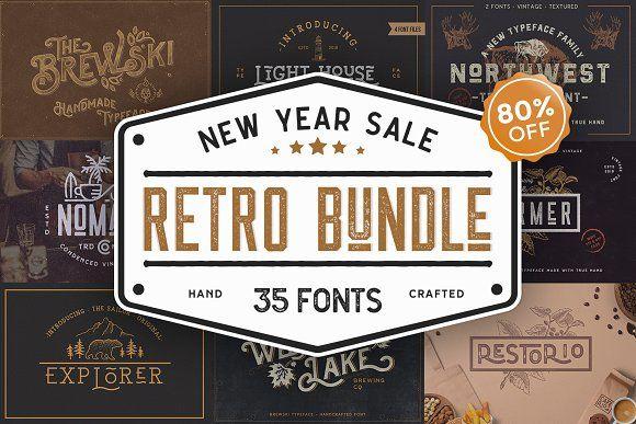 Retro Vintage Font Collection Vintage Fonts Retro Vintage Retro Font
