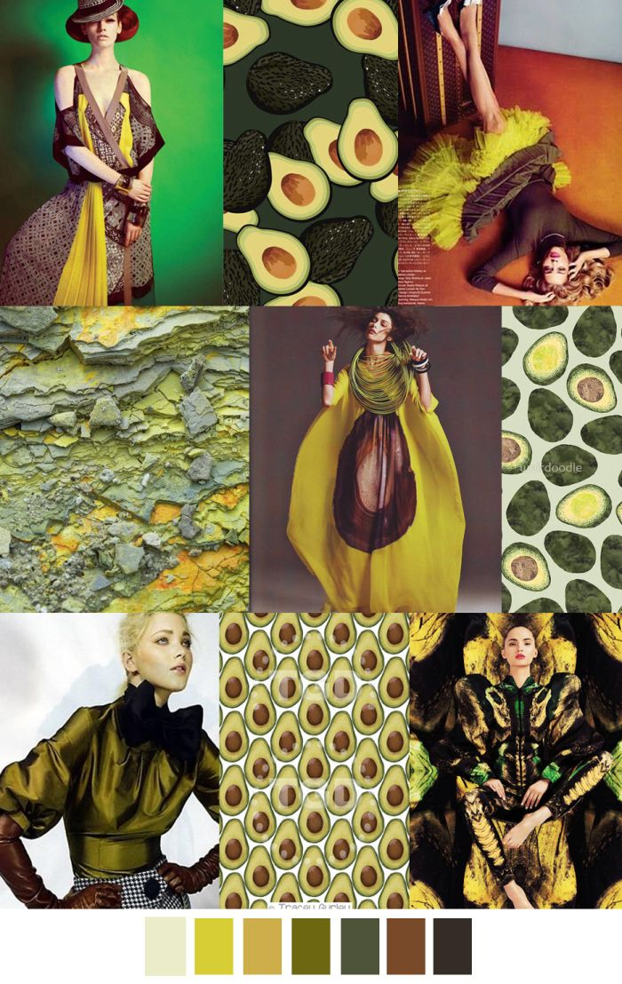 F/W 2017 Women's Colors Trend: AVOCADO BRAVADO    @nonducorducouk