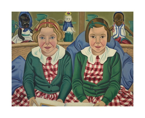 Rita Angus - Fay and Jane Birkinshaw  Gallery Prints