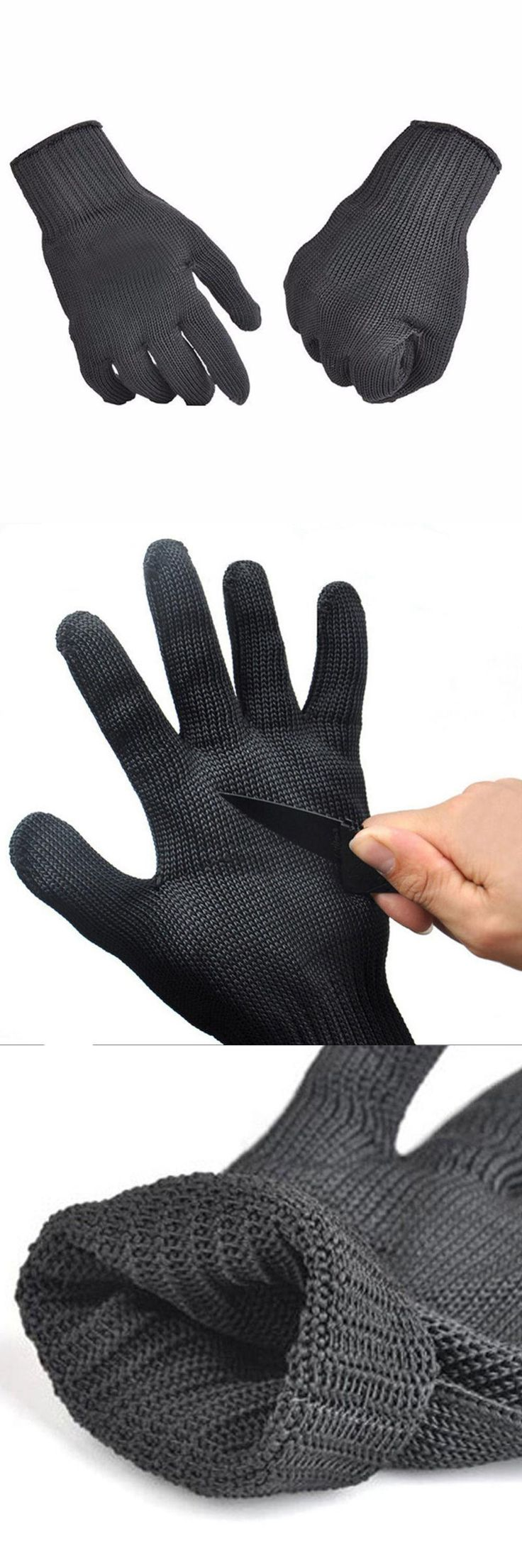 [Visit to Buy] 1 Pair Fishing Gloves Anti-cut Anti-slip Cut Resistant Protect Knife Proof Metal Mesh Butcher Breathable Glove #Advertisement