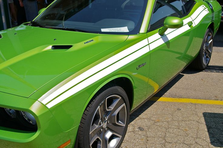 2011 Challenger R/T Classic - Green with Envy - White Stripe - photographed at the 2011 Mopar Nationals in Ohio. https://flic.kr/p/axTs1u | IMGP0400 | 2011 Challenger R/T Classic - Green with Envy - White Stripe