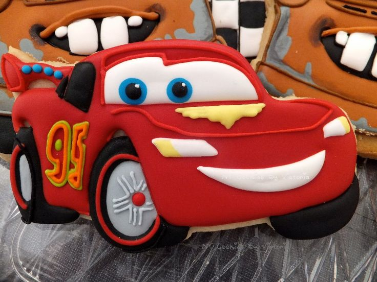 (1) Lightning McQueen Cookie, for a Birthday Party... - NY Cookies By Victoria