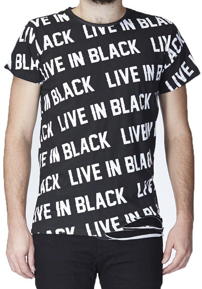 "RELIGION Clothing Herren T-Shirt Shirt ""LIVE IN BLACK"" NEU UVP 60€ in Vêtements, accessoires, Hommes: vêtements, T-shirts   eBay"
