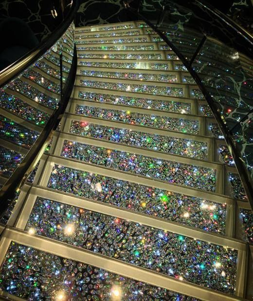 Glitter bling stairs! Every princess needs sparkly stairs in their castle