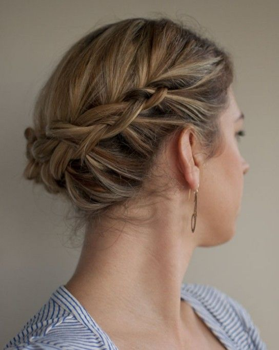 Updo Hairstyles For Short Hair With Braids