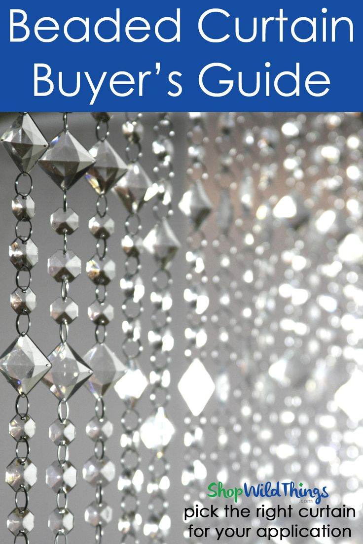 Beaded Curtain Buyer's Guide - There are so many Beaded Curtains out there. Learn which style works best for which application in the ShopwildThings Beaded Curtain Buyer's Guide!
