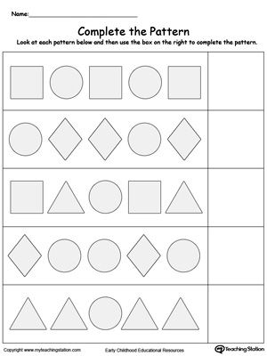 9 best images about patterns worksheets on pinterest shape colors and the ice. Black Bedroom Furniture Sets. Home Design Ideas