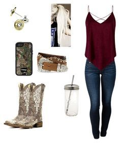 """""""Thanksgiving in Estes"""" by babyinblue on Polyvore featuring THVM and Tony Lama"""