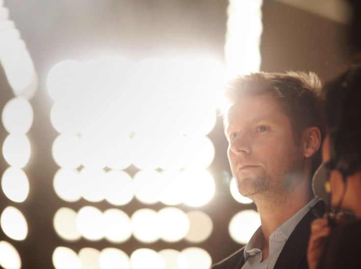 Christopher Bailey at Burberry backstage (pic by Burberry)