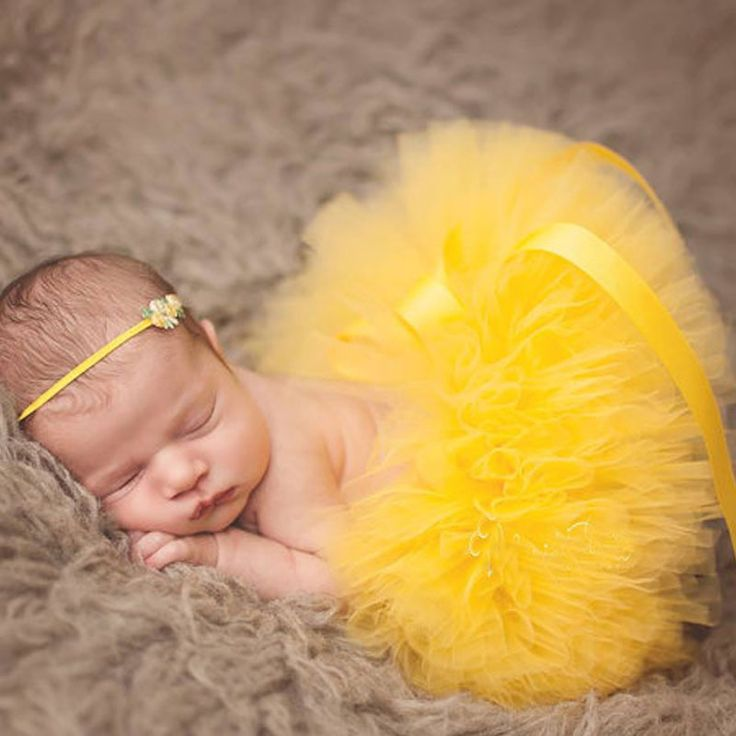 >> Click to Buy << Cute Baby Yellow Tutu Skirts Girl Handmade Fluffy Tulle Ballet Pettiskirts with Dots Bow and Flower Headband Newborn Party Skirt #Affiliate