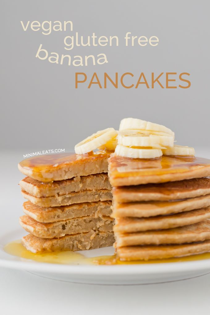 These pancakes are vegan, gluten and sugar-free and it's the best pancakes recipe I've ever tried, it's so awesome and really easy to make.