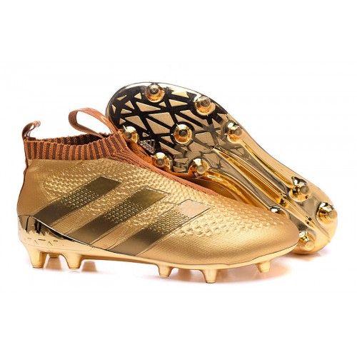 Comprar 2016 Adidas Ace16+ Purecontrol FG-AG Botas De Futbol Oroen Baratas