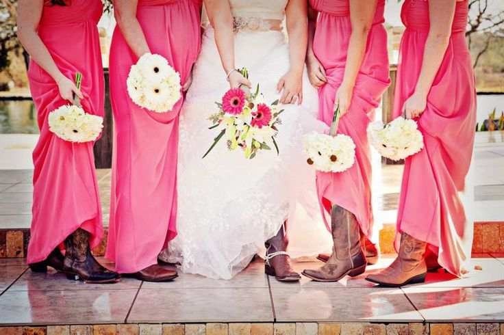 Gerber daisy wedding bouquet idea {2 Cool Flowers - Houston-area Florist}