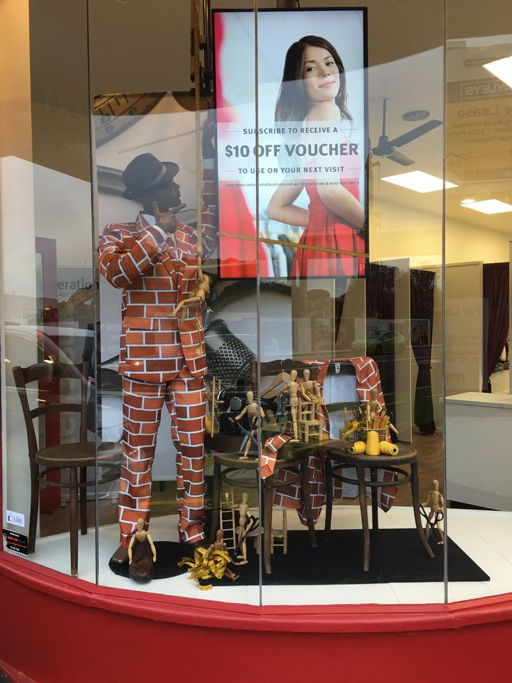 """LOOKSMART, (Clothing Alterations), Broadway, Newmarket, Auckland, New Zealand, """"Beautiful things come together, one stitch at a time"""", created by Ton van der Veer"""