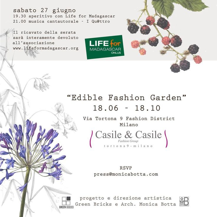 Temporary Garden 18/06 - 18/10 2015 Milan Location: Tortona 9 Fashion District, Showroom Casile & Casile Fashion Group Design and art director: Green Bricks and Monica Botta
