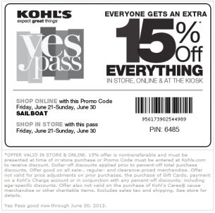 Present offer for in-store purchase or enter code at tiucalttoppey.gq to receive discount. Limit one offer per customer. DOLLAR-OFF DISCOUNTS, INCLUDING KOHL'S CASH® COUPONS, YES2YOU REWARDS® AND PROMOTIONAL GIFTS, WILL BE APPLIED PRIOR TO PERCENT-OFF TOTAL PURCHASE DISCOUNTS/COUPONS. Offer can be used in conjunction with one other percent-off .