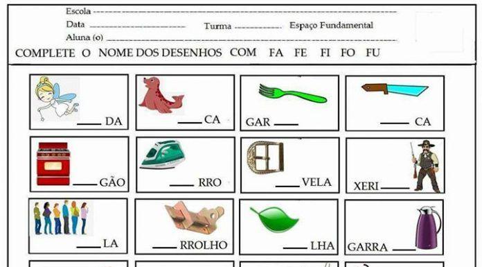 Atividades Com Silabas Simples Para Educacao Infantil Com Imagens