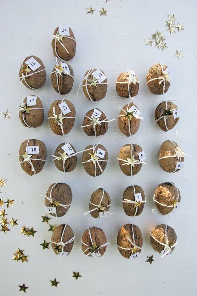 Jak využít skořápky od vlašských ořechů - na opravdu originální adventní kalendář!