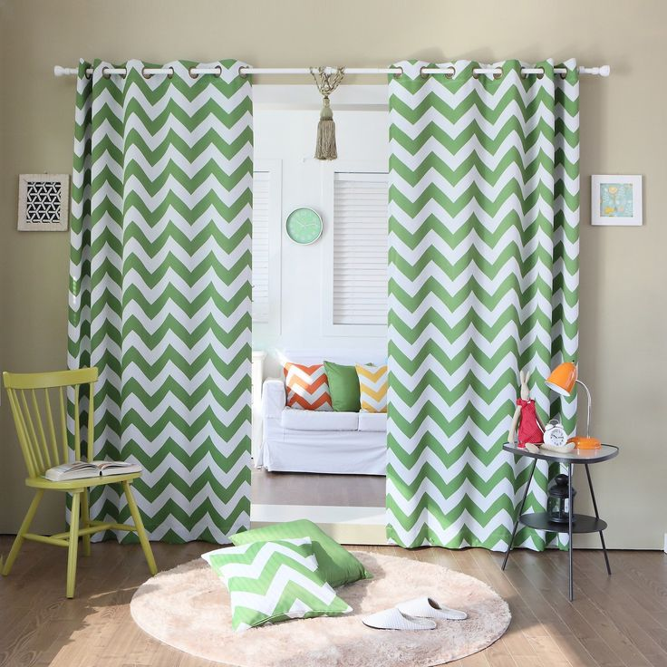 10 best Chevron green curtains to get you close to nature images ...
