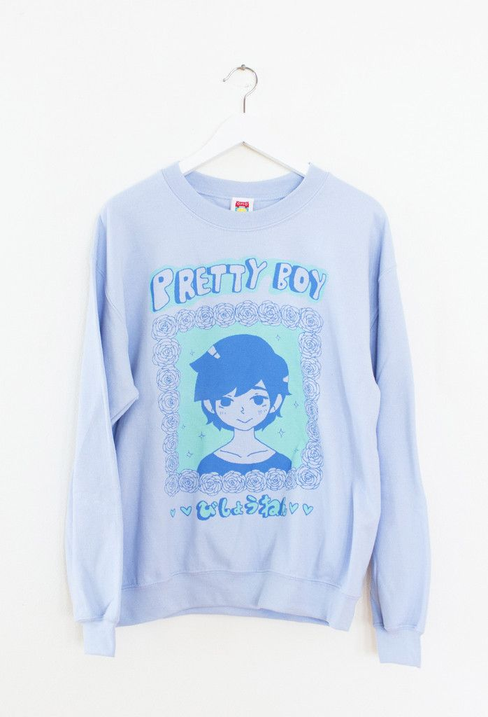 PRETTYBOY *BLUE* Sweater – OMOCAT THEY STILL MAKE THIS I WANT THIS SWEATER SO BAD MAN (ID PROBABLY WANT AN EXTRA LARGE) IM SO EXCITED