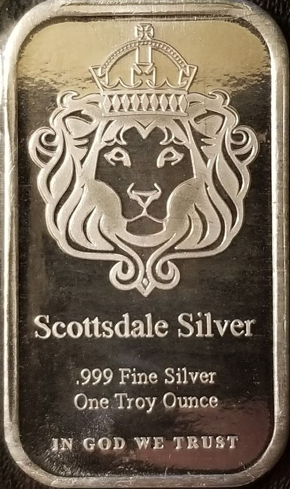 1 Oz Silver Bar The One By Scottsdale Silver 999 Fine Silver Bullion Silver Bullion Silver Bars Fine Silver