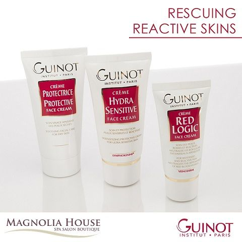 Guinot Protection Face Cream defends, nourishes and moisturizes sensitive skin, restoring natural defenses, radiance and fading redness. Guinot Protection Face Cream is a protective shield, soothing, repairing hydrator for vulnerable skin and sensitive skin. It works great to calm sunburn and hypersensitive skin.