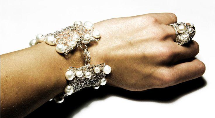 Bracciale da sposa FROZEN, by Gingery Stones, 30,00 € su misshobby.com