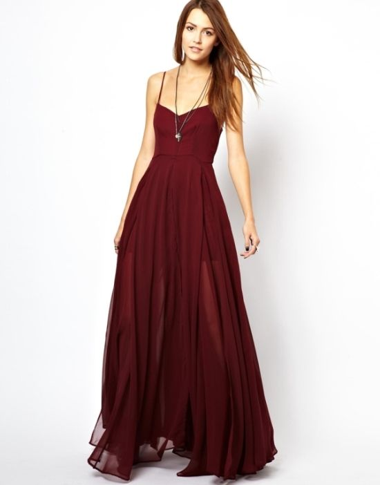 Religion Olsen Maxi Dress ~~~ the dark red makes it look more dressy and I like that