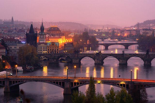 The city awakes, Prague, Czech Republic (Gorgeous)