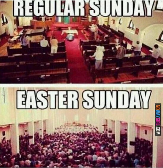 Regular Sunday Vs Easter Sunday - NoWayGirl
