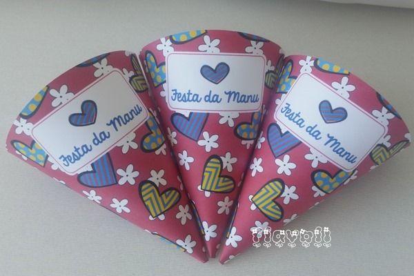 Cone - Romero Britto rosa  :: flavoli.net - Papelaria Personalizada :: Contato: (21) 98-836-0113 vendas@flavoli.net