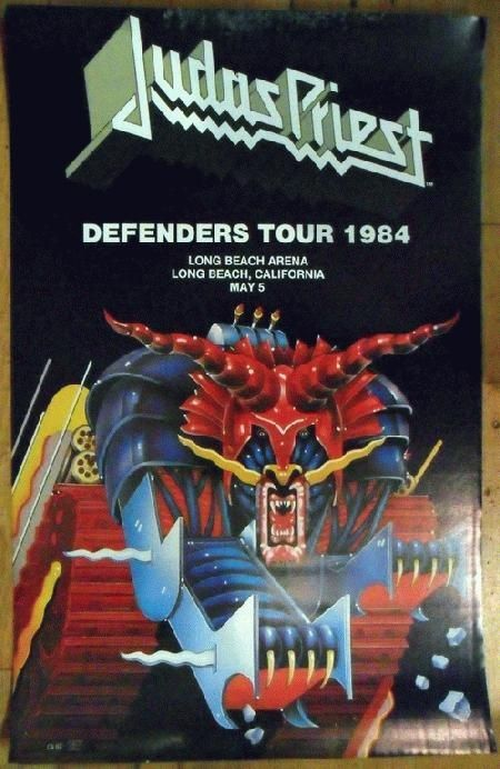 judas priest concert posters | Original concert poster for Judas Priest at The ... | 10. Judas Priest
