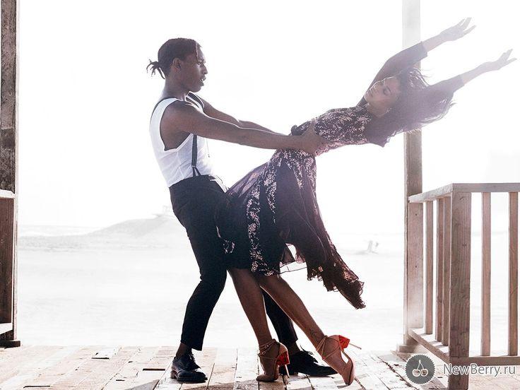 ASAP Rocky и Chanel Iman на страницах Vogue US