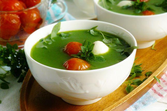 Классика мировой кулинарии и немного домашней стряпни - Холодный суп с рукколой и моцареллой