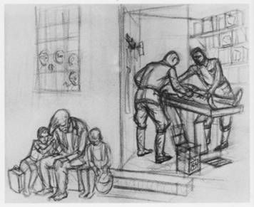 dessin David Olère Auschwitz Birkenau K II dissection jumeaux