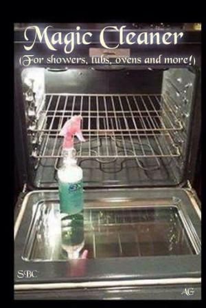 Miracle Cleaner Into a spray bottle mix: 2 oz. Dawn Dishwashing liquid 4 oz. Lemon Juice 8 oz. White Vinegar 10 oz. Water This is powerful stuff! If your shower has a bad build-up of soap scum and crud it may take a time or two to get that shine. I've used this to clean my OVEN.....my STOVE grates and the Glass in the showers....This stuff is AWESOME!! by trichb