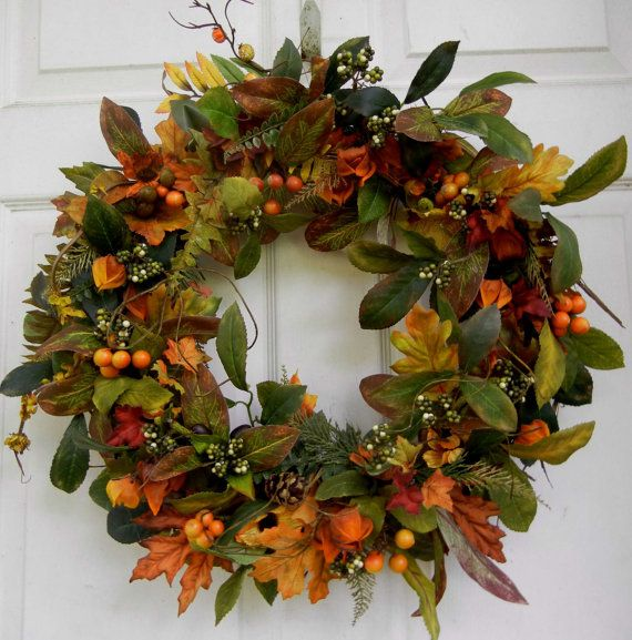 Enchanted Forest Wreath  Fall Wreath  Wreath for by forevermore1, $89.00
