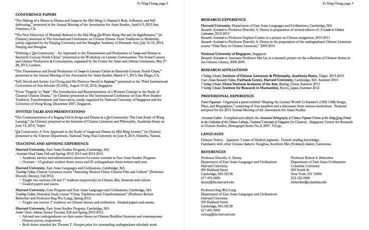 hlsharvardedu cv Pinterest Harvard - harvard resume format